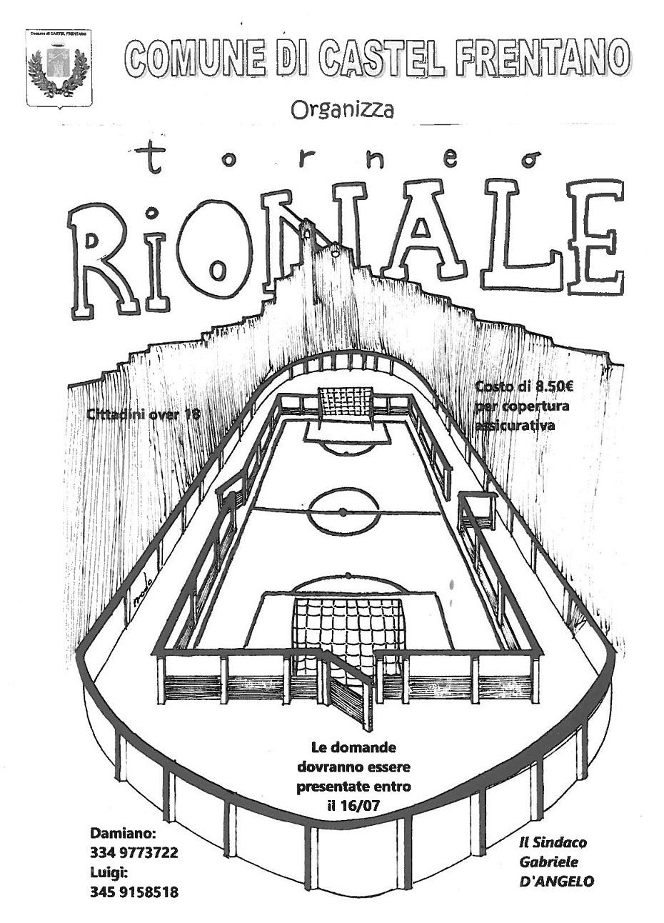 Locandina torneo Rionale