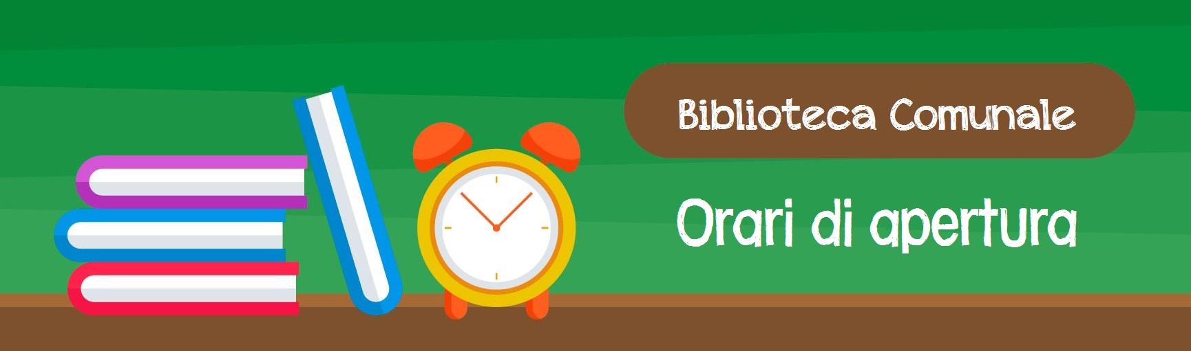 Banner Orario biblioteca