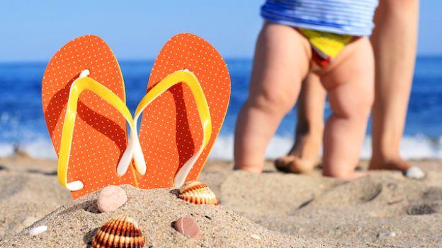 Foto bambino al mare